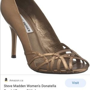 Steve Madden Donatello heel w/ birdcage open toe